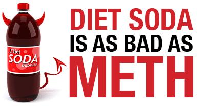 diet soda is as bad as meth